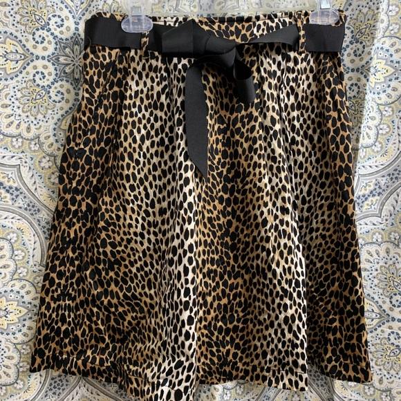 White House Black Market Dresses & Skirts - White House Black Market Leopard Skirt